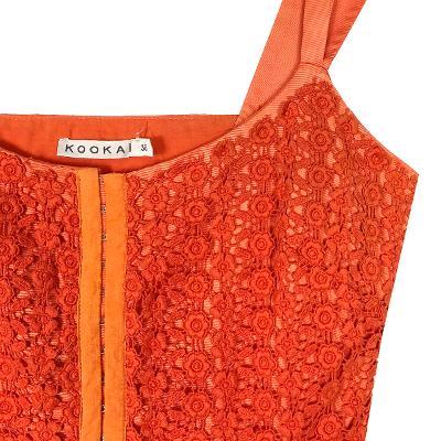 hook detail dress orange